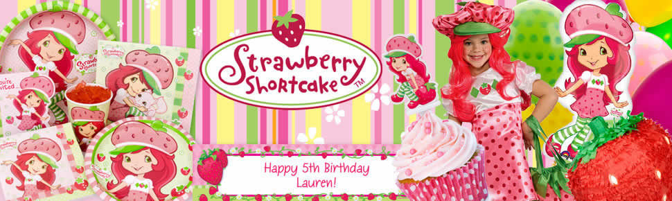 Strawberry Shortcake Party Beverage Napkin 16ct