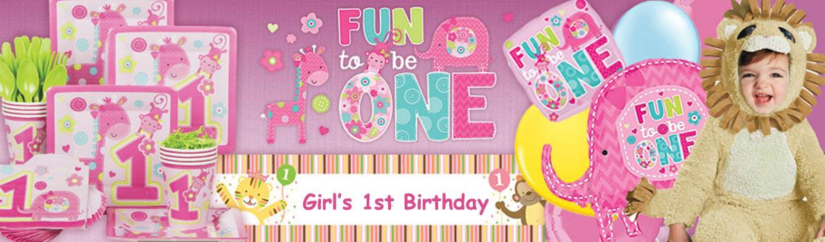 """Fun To Be One"" 1st Birthday Beverage Napkins – 16ct"