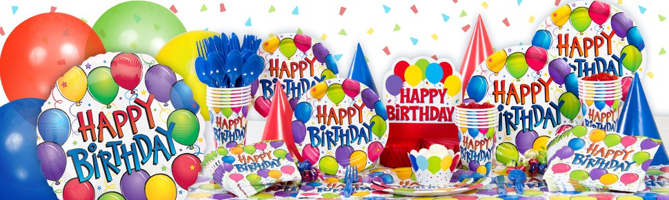 Balloon Fun Happy Birthday Beverage Napkins 125ct