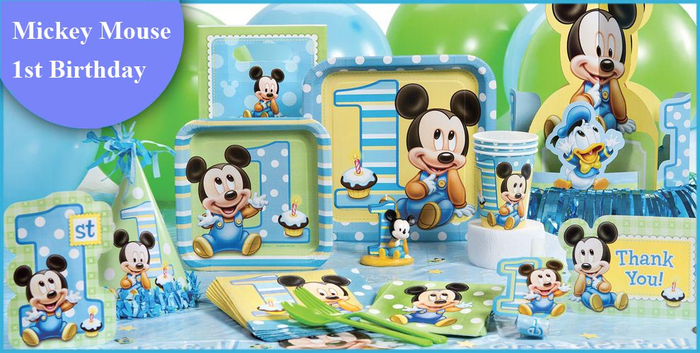 1st Birthday Mickey Mouse Beverage Napkins 16ct
