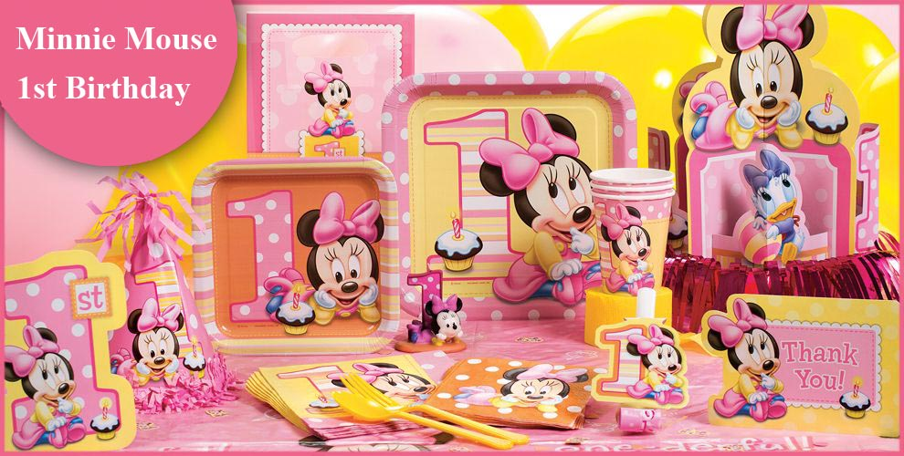 1st Birthday Minnie Mouse Beverage Napkins 16 ct