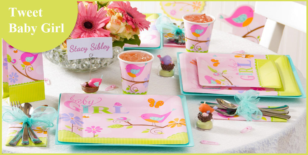 Tweet Baby Girl Beverage Napkins 16ct