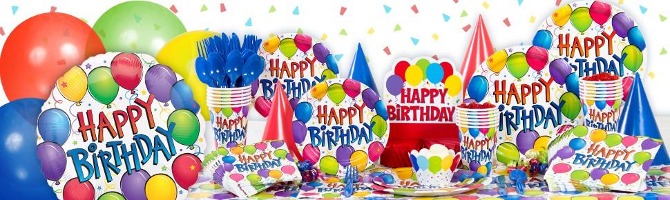 Balloon Fun Happy Birthday Beverage Napkins 125ct